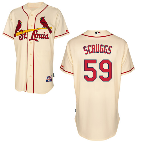Xavier Scruggs #59 MLB Jersey-St Louis Cardinals Men's Authentic Alternate Cool Base Baseball Jersey