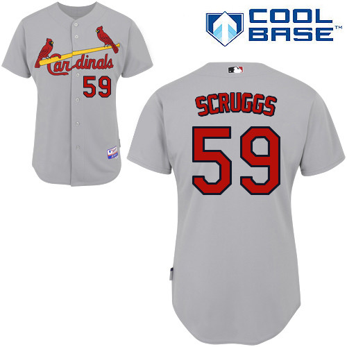 Xavier Scruggs #59 MLB Jersey-St Louis Cardinals Men's Authentic Road Gray Cool Base Baseball Jersey