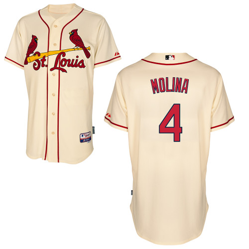 Yadier Molina #4 MLB Jersey-St Louis Cardinals Men's Authentic Alternate Cool Base Baseball Jersey